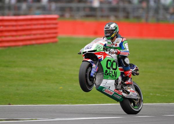 2014 MotoGP Championship  British Grand Prix.  Silverstone, England. 29th - 30st August 2014.  Scott Redding, Gresini Honda.  Ref: _W7_8502. World copyright: Kevin Wood/LAT Photographic
