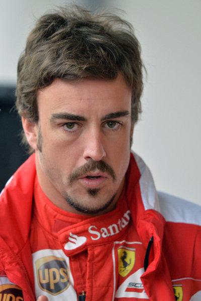 Fernando Alonso (ESP) Ferrari.Formula One World Championship, Rd8, British Grand Prix, Practice, Silverstone, England, Friday 28 June 2013.