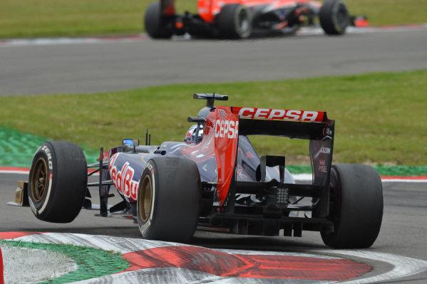 Jean-Eric Vergne (FRA) Scuderia Toro Rosso STR8. Formula One World Championship, Rd9, German Grand Prix, Practice, Nurburgring, Germany, Friday 5 July 2013.