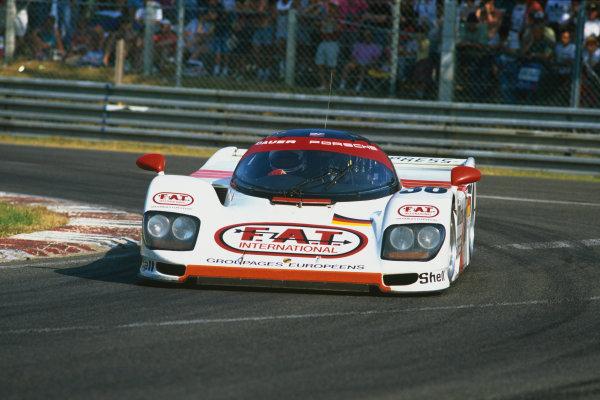 Le Mans, France. 18th - 19th June 1994.Yannick Dalmas/Hurley Haywood/Mauro Baldi (Dauer 962 Le Mans Porsche), 1st position, action. World Copyright: LAT Photographic.Ref:  94LM07.