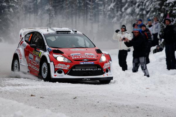Round 02 - Rally Sweden 09-12 February 2012. Evgeny Novikov, Ford WRC, Action  Worldwide Copyright: McKlein/LAT