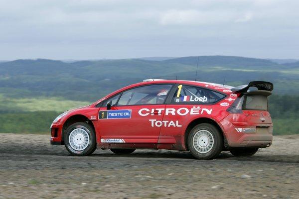 2007 FIA World Rally Champs. Round nineRally Finland.2nd-5th August 2007.Sebastien Loeb, Citroen, action.World Copyright: McKlein/LAT
