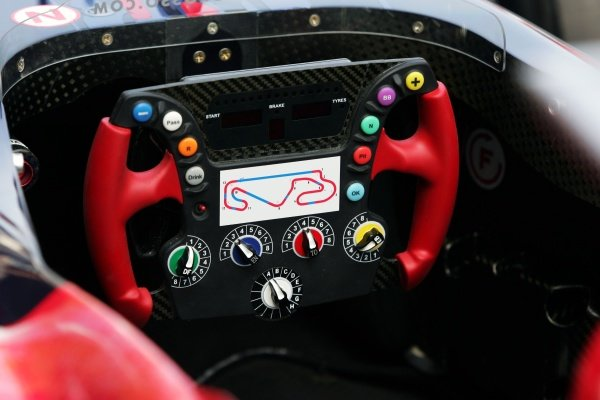 Scuderia Toro Rosso STR01 steering wheel.