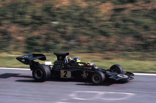 1973 Austrian Grand Prix.Osterreichring, Zeltweg, Austria.17-19 August 1973.Ronnie Peterson (Lotus 72D Ford) 1st position.World Copyright - LAT Photographic