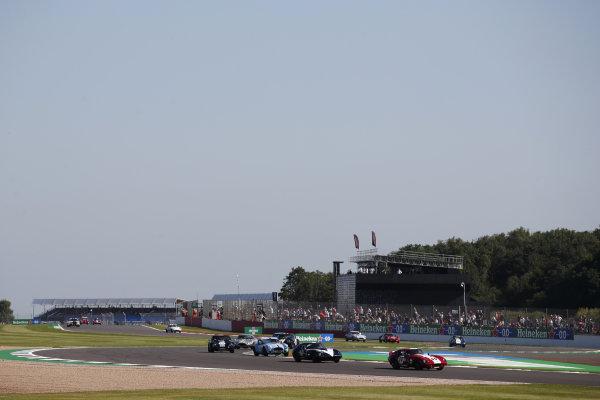 Andrew Jordan, AC Cobra Daytona Coupe, leads Julian Thomas, Shelby Daytona Coupe