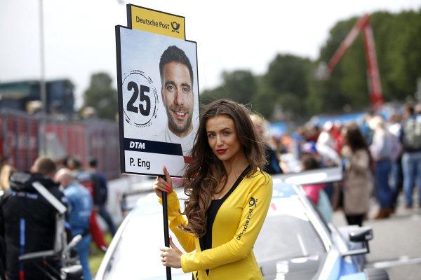 Grid girl of Philipp Eng, BMW Team RBM.