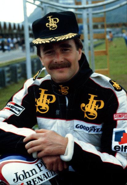 1984 Brazilian Grand Prix.Jacarepagua, Rio de Janeiro, Brazil.23-25 March 1984.Nigel Mansell (Team Lotus).World Copyright - LAT Photographic