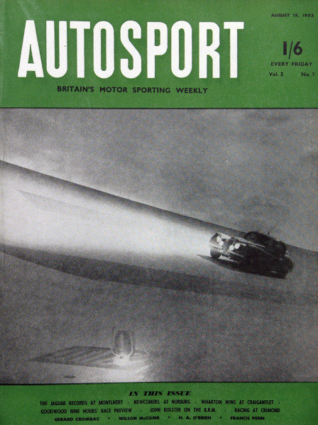 Cover of Autosport magazine, 15th August 1952