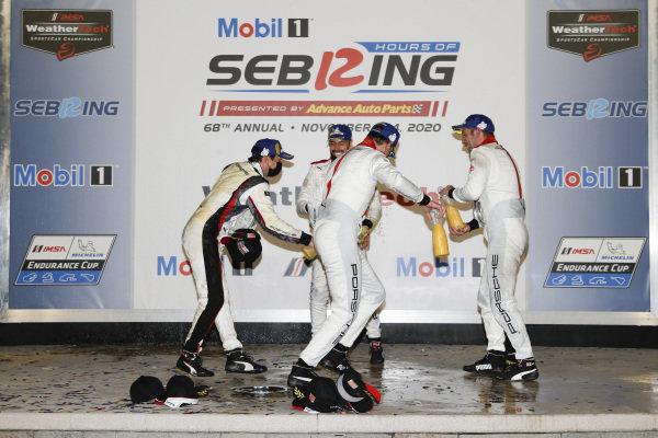 Podium: Winning team: Porsche GT Team Winning drivers: Nick Tandy, Fred Makowiecki, Earl Bamber Second place team: Porsche GT Team Second place drivers: Laurens Vanthoor, Earl Bamber, Neel Jani champagne, orange juice