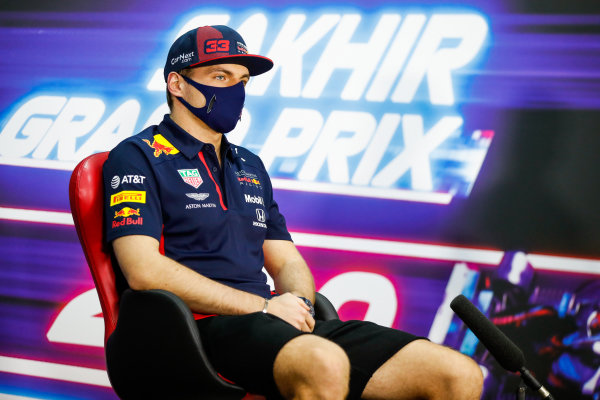 Max Verstappen, Red Bull Racing, in the Press Conference