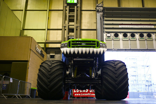 A Monster Truck in the Live Action Arena paddock.