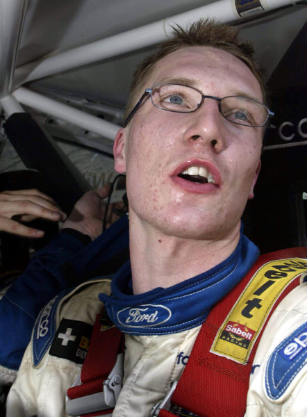 Jari-Matti Latvala, Ford Focus WRC Acropolis Rally 2003.Photo: McKlein/LAT
