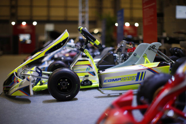 Go-karts on display at Autosport International