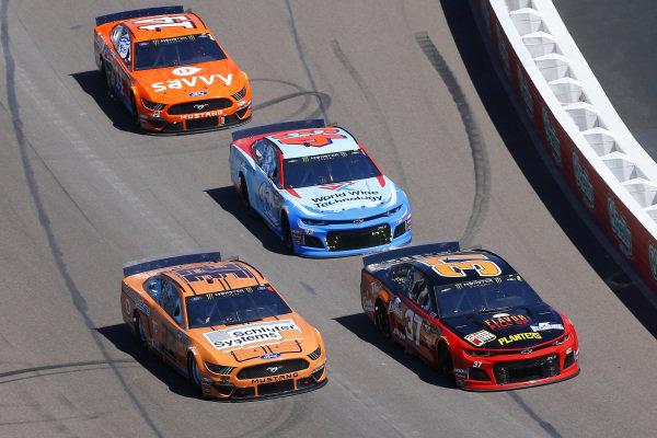 #37: Chris Buescher, JTG Daugherty Racing, Chevrolet Camaro Kroger Flavor Fill Up and #32: Corey LaJoie, Go FAS Racing, Ford Mustang Schluter