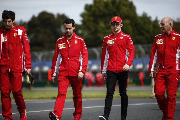 Charles Leclerc, Ferrari, with Jock Clear, Race Engineer, Ferrari.