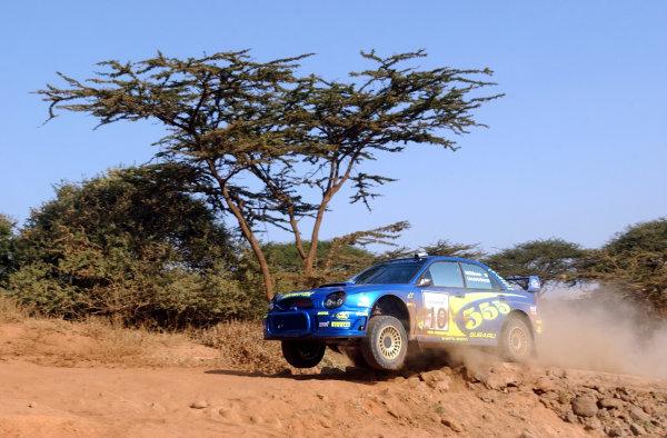 2002 World Rally Championship.Safari Rally, Nairobi Kenya, July 11-14th.Tommi Makinen on section one.Photo: Ralph Hardwick/LAT