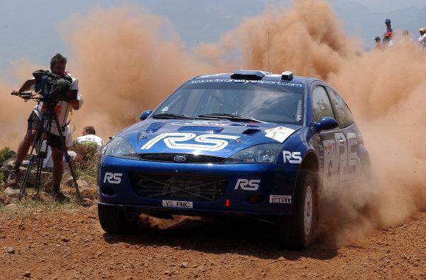 World Rally Championship, Acropolis Rally, June 13-16, 2002.Markko Martin on stage 3.Photo: Ralph Hardwick/LAT
