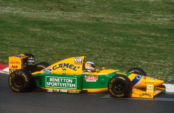1993 San Marino Grand Prix.Imola, Italy.23-25 April 1993.Michael Schumacher (Benetton B193B Ford) 2nd position.Ref-93 SM 11.World Copyright - LAT Photographic
