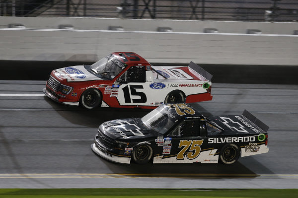 #15: Tanner Gray, Team DGR, Ford F-150 Ford Performance, #75: Sam Mayer, Henderson Motorsports, Chevrolet Silverado