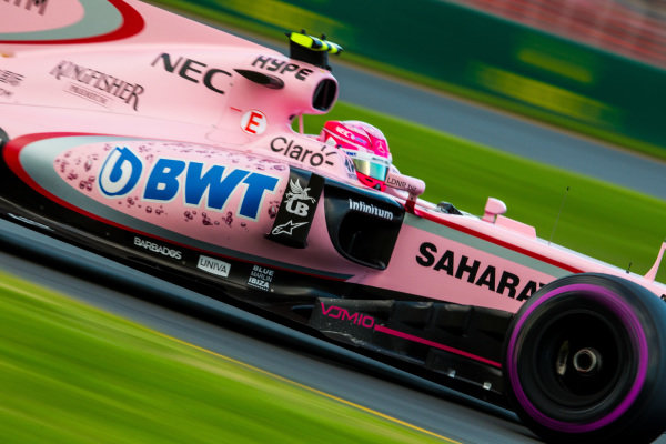 Esteban Ocon (FRA) Force India VJM10 at Formula One World Championship, Rd1, Australian Grand Prix, Qualifying, Albert Park, Melbourne, Australia, Saturday 25 March 2017.