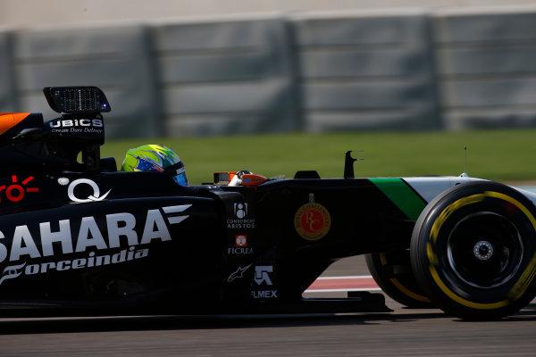 Yas Marina Circuit, Abu Dhabi, United Arab Emirates. Wednesday 26 November 2014. Spike Goddard, Force India VJM07 Mercedes.  World Copyright: Glenn Dunbar/LAT Photographic. ref: Digital Image _89P0209