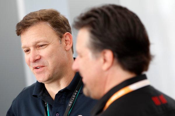 Miami e-Prix 2015. First Practice Session. Andretti Team Garage. FIA Formula E World Championship. Miami, Florida, USA. Saturday 14 March 2015.  Copyright: Adam Warner / LAT / FE ref: Digital Image _A8C1983