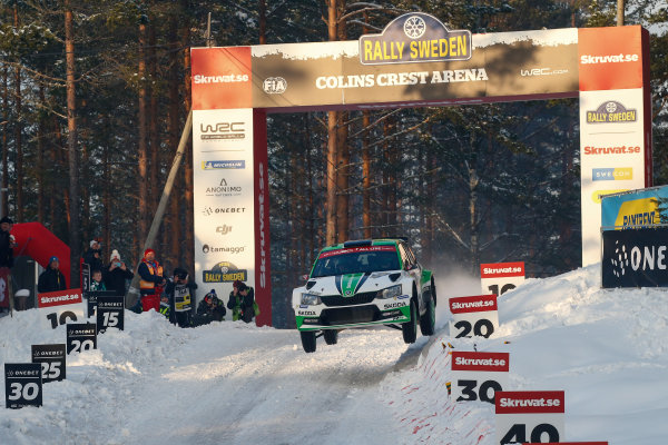 2018 FIA World Rally Championship, Round 02, Rally Sweden 2018, February 15-18, 2018. Ole Christien Veiby, Skoda, Action Worldwide Copyright: McKlein/LAT