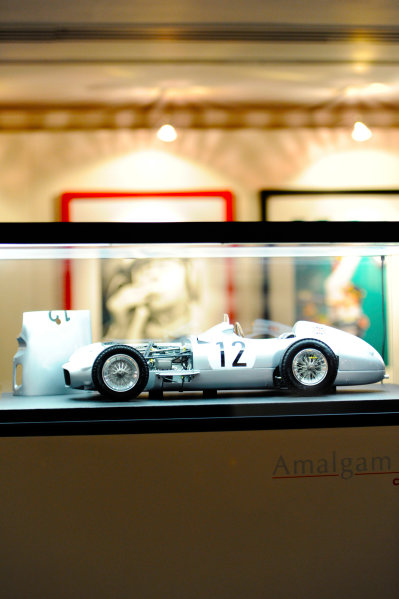 2017 Autosport Awards Grosvenor House Hotel, Park Lane, London. Sunday 3 December 2017. A 1950s Mercedes Amalgam model. World Copyright: Ashleigh Hartwell/LAT Images Ref: Digital Image _AKH2235
