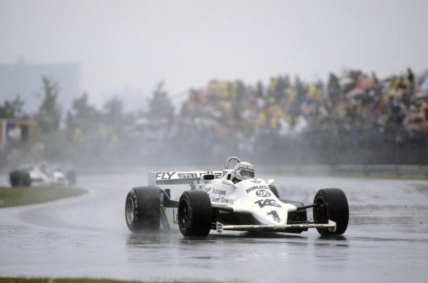 1981 Canadian Grand Prix.Montreal, Canada. 25-27 September 1981.Alan Jones (Williams FW07C-Ford Cosworth), retired.World Copyright: LAT PhotographicRef: 35mm transparency 81CAN25