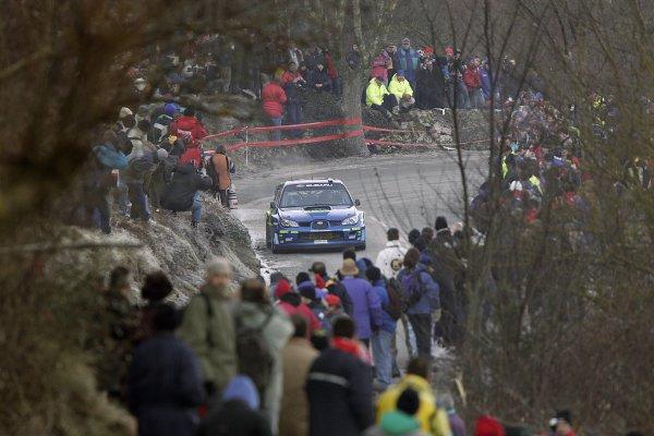 2006 FIA World Rally Champs. Round One, Monte Carlo Rally.19th - 22nd January 2006.Chris Atkinson. Subaru. Action.World Copyright: McKlein/LAT