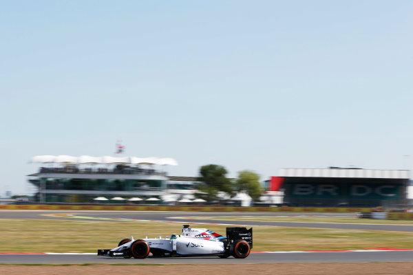 Silverstone Circuit, Northamptonshire, England. Friday 3 July 2015. Felipe Massa, Williams FW37 Mercedes. World Copyright: Andrew Ferraro/LAT Photographic ref: Digital Image _FER0193