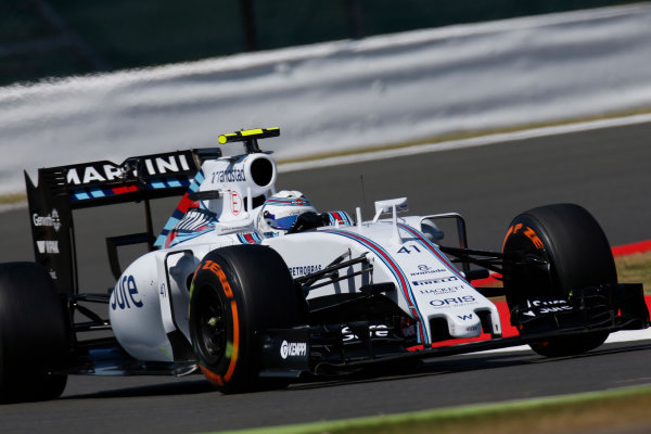 Silverstone Circuit, Northamptonshire, England. Friday 3 July 2015. Susie Wolff, Williams FW37 Mercedes. World Copyright: Alastair Staley/LAT Photographic ref: Digital Image _79P9526