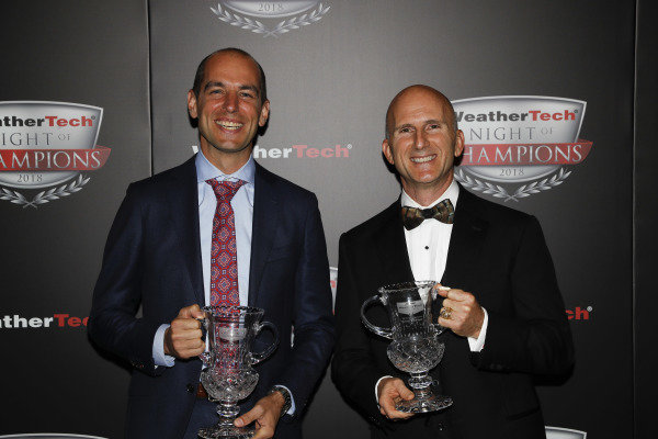 2018 WeatherTech Night of Champions, #33 Riley Motorsports Mercedes AMG GT3, GTD: Jeroen Bleekemolen, Ben Keating,