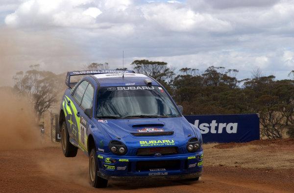 2002 World Rally Championship.Telstra Rally Australia, Perth. October 31st-November 3rd.Tommi Makinen on stage 15.Photo: Ralph Hardwick/LAT