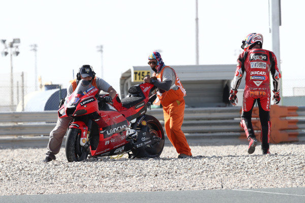 Jack Miller, Ducati Team crash.