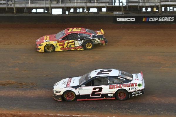 #2: Brad Keselowski, Team Penske, Ford Mustang Discount Tire, #12: Ryan Blaney, Team Penske, Ford Mustang Advance My Track Challenge