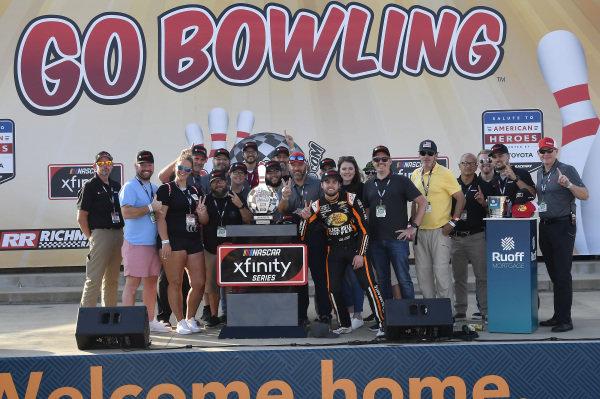 #9: Noah Gragson, JR Motorsports, Chevrolet Camaro Bass Pros Shops/TrueTimber/BRCC, celebrates in Victory Lane.