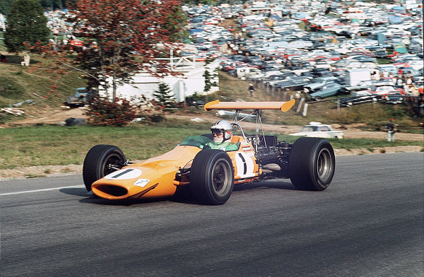 Mont-Tremblant, (St. Jovite), Quebec, Canada.20-22 September 1968.Denny Hulme (McLaren M7A Ford) 1st position.Ref-35mm 68 CAN 69.World Copyright - LAT Photographic