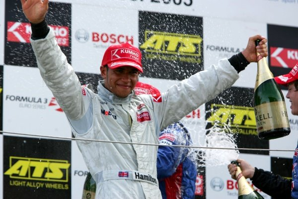 Lewis Hamilton (GBR), ASM Formule 3, Dallara F305 Mercedes (1st), secured the 2005 championship by winning the race.  Formula Three Euroseries, Rd16, Zandvoort, Holland, 28 August 2005. DIGITAL IMAGE