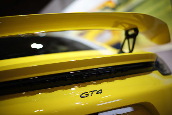 Rear detail of a Porsche GT4