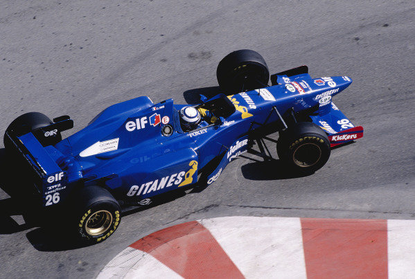 1995 Monaco Grand Prix.Monte Carlo, Monaco. 25-28 May 1995.Olivier Panis (Ligier JS41 Mugen Honda) at the Nouvelle Chicane.Ref-95 MON 86.World Copyright - LAT Photographic