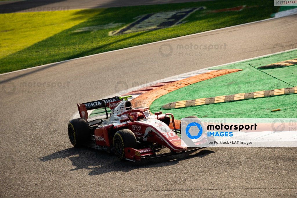 AUTODROMO NAZIONALE MONZA, ITALY - SEPTEMBER 07: Sean Gelael (IDN,PREMA RACING) during the Monza at Autodromo Nazionale Monza on September 07, 2019 in Autodromo Nazionale Monza, Italy. (Photo by Joe Portlock / LAT Images / FIA F2 Championship)