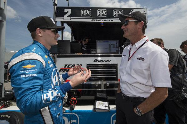 Josef Newgarden, Team Penske Chevrolet with Tim Cindric