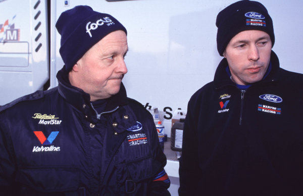 WRC Monte Carlo 2000Colin McRae and father Jimmy suffer the disappointment of retiring from the rally on the last stage.Photo: McKlein/LAT