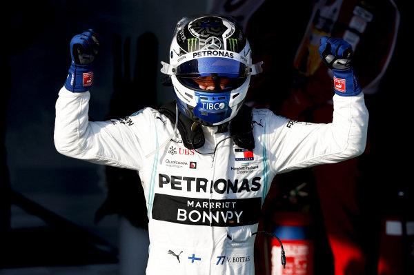 Race winner Valtteri Bottas, Mercedes AMG F1 celebrates in Parc Ferme