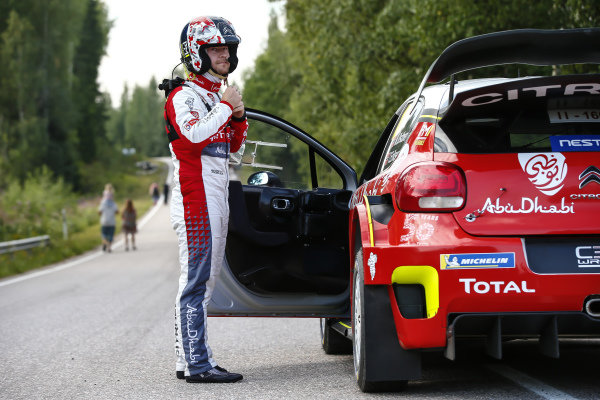 Ready for the off on Rally Finland, Mads Ostberg