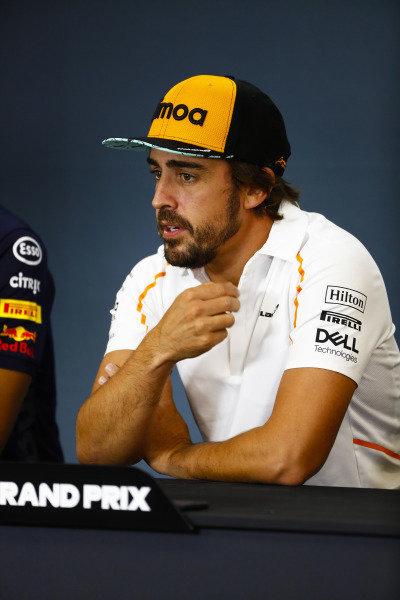 Fernando Alonso, McLaren, in the Thursday press conference.