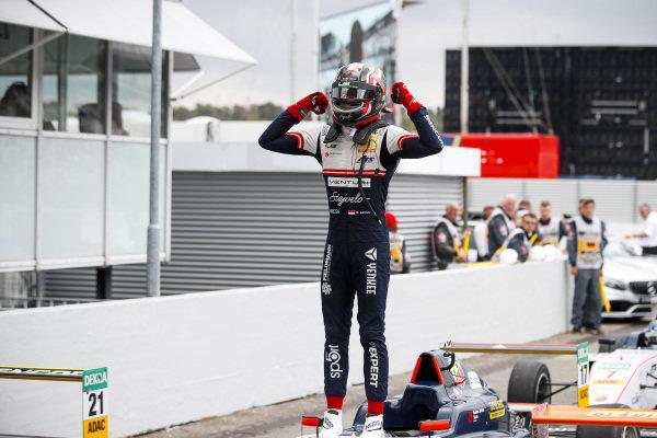 Race winner Arthur Leclerc in Parc Ferme