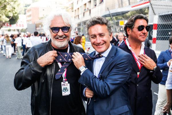 Alejandro Agag, CEO, Formula E, with Flavio Briatore