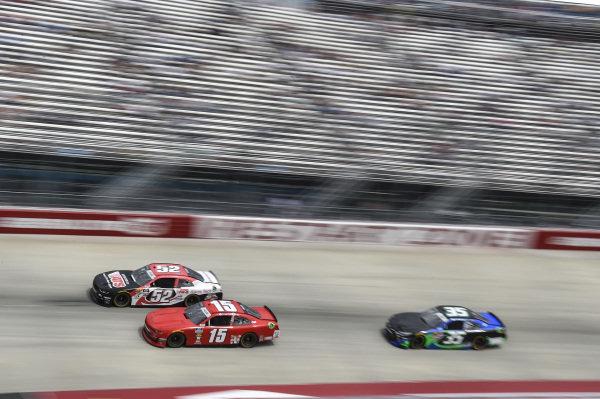 #52: David Starr, Means Motorsports, Chevrolet Camaro ATS, #15: B.J. McLeod, JD Motorsports, Chevrolet Camaro teamjdmotorsports.com, #35: Joey Gase, Motorsports Business Management, Toyota Supra